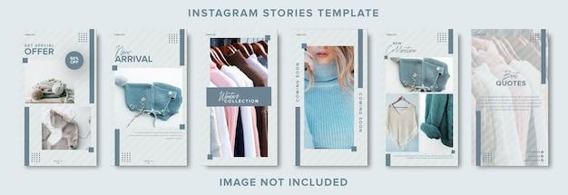 Modèle de bannière d'histoires instagram de médias sociaux de mode minimaliste