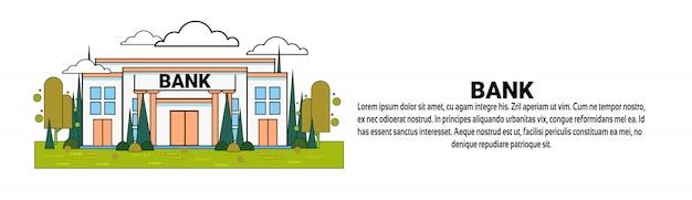 Modèle de bannière horizontale banque business finance concept