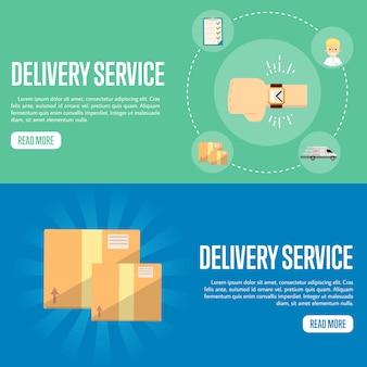 Modèle de bannière horizontale du service de livraison