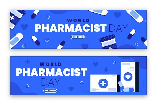 Modèle de bannière horizontale de jour de pharmacien