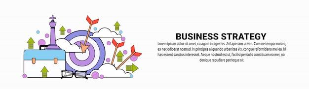 Modèle de bannière horizontale pour la planification de la stratégie commerciale
