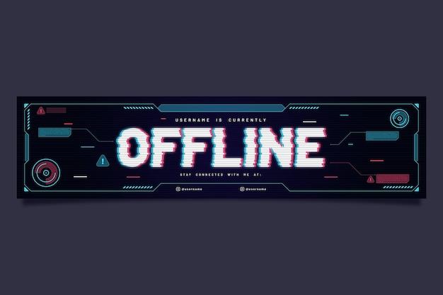 Modèle de bannière hors ligne twitch