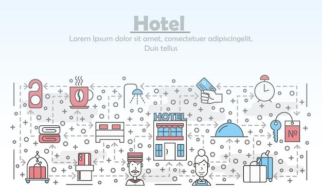 Modèle de bannière d'hôtel