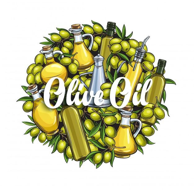 Modèle de bannière huile d'olive