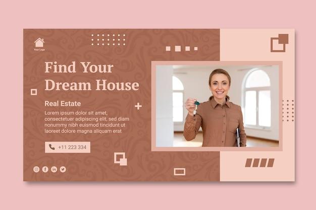 Modèle de bannière immobilière