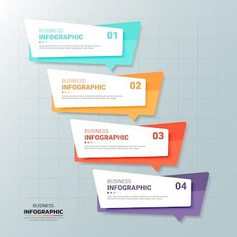 Modèle de bannière d'infographie 6 options