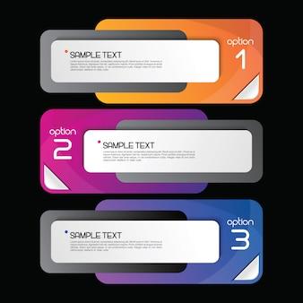 Modèle de bannière infographie coloré