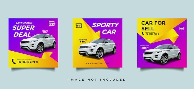Modèle de bannière instagram de médias sociaux de voiture de location