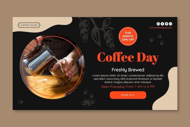 Modèle de bannière de jour café