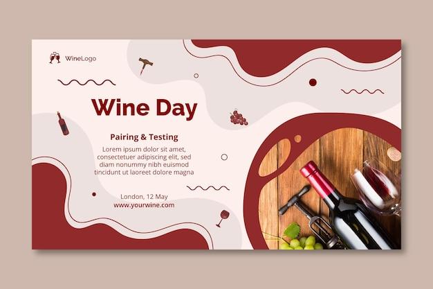 Modèle de bannière de jour de vin