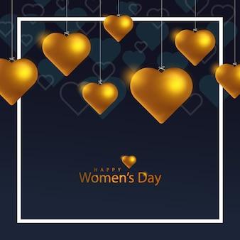 Modèle de bannière de la journée de la femme heureuse avec amour