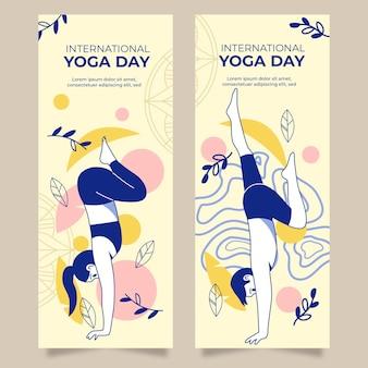 Modèle de bannière de la journée internationale du yoga