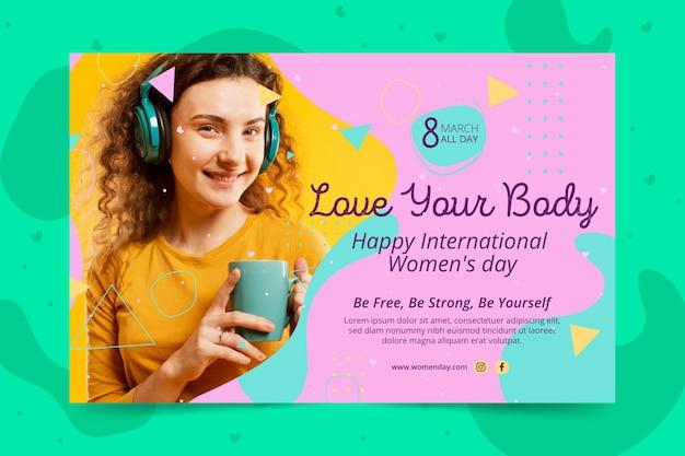 Modèle de bannière de la journée internationale de la femme