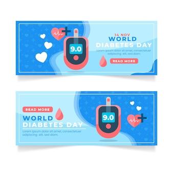 Modèle de bannière de la journée mondiale du diabète