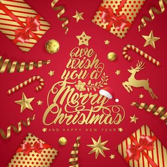 Modèle de bannière joyeux noël et bonne année