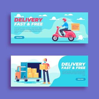 Modèle de bannière de livraison