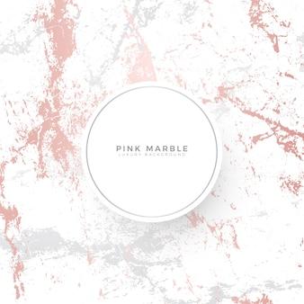 Modèle de bannière de luxe en marbre rose