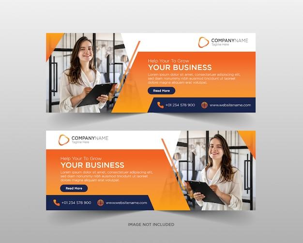 Modèle de bannière de marketing social pour les entreprises