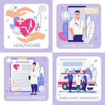 Modèle de bannière de médecin en ligne