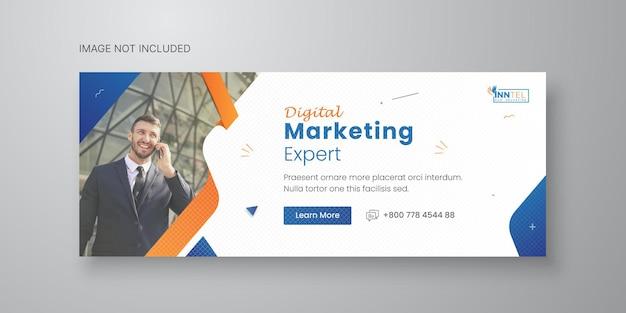 Modèle de bannière de médias sociaux d'entreprise avec la conception de la couverture facebook vecteur premium
