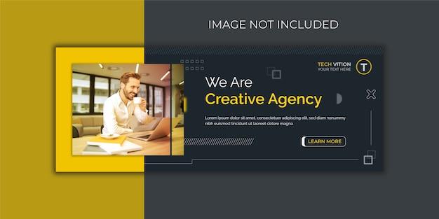 Modèle de bannière de médias sociaux d'entreprise créative avec conception de couverture facebook