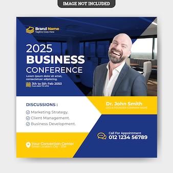 Modèle de bannière de médias sociaux flyer business conference
