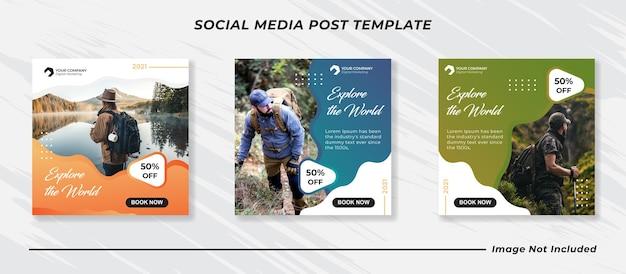 Modèle de bannière de médias sociaux itinérants