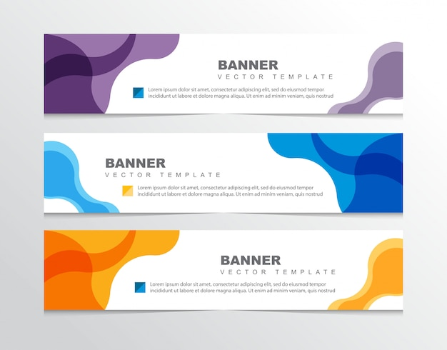 Modèle de bannière moderne abstrait