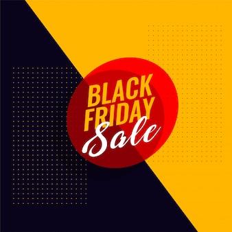 Modèle de bannière moderne vente vendredi noir