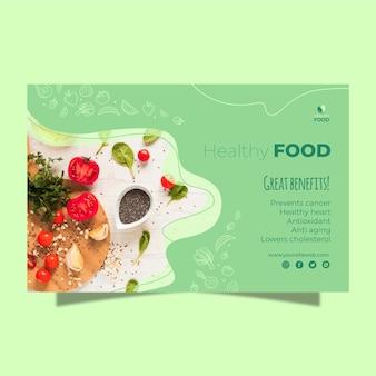 Modèle de bannière de nourriture saine