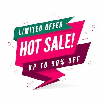 Modèle de bannière offre limitée vente chaude.