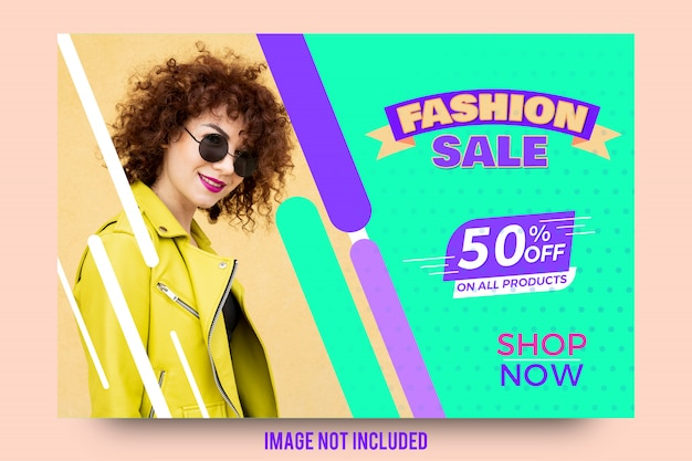 Modèle de bannière offre de vente mode abstraite