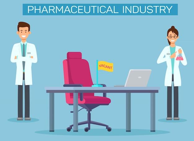 Modèle de bannière d'offres d'emploi dans l'industrie pharmaceutique