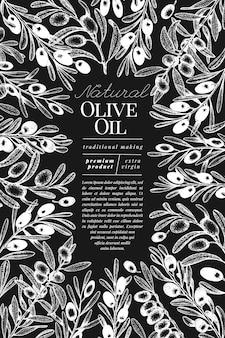 Modèle de bannière d'olivier.