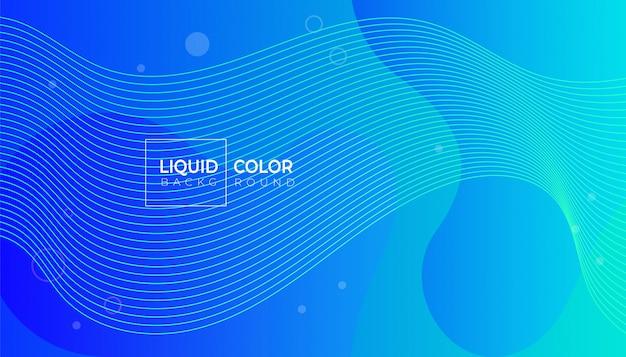 Modèle de bannière d'ondes liquides en plastique.