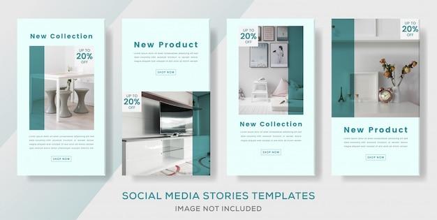 Modèle de bannière de pack intérieur pour la publication d'histoires de médias sociaux.
