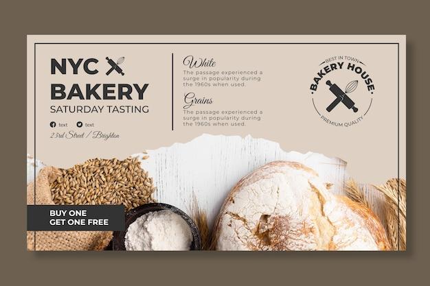 Modèle de bannière de pain avec photo