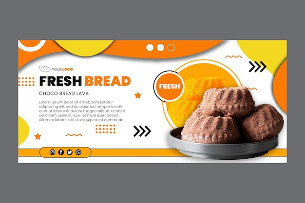 Modèle de bannière de pain