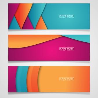 Modèle de bannière papercut