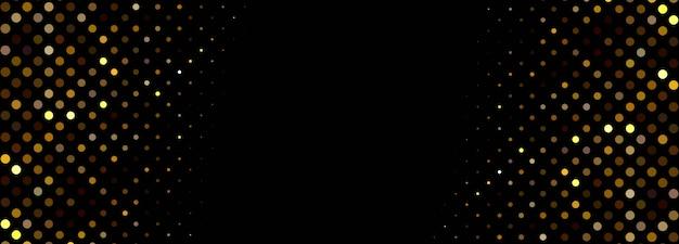 Modèle de bannière de particules incandescentes abstraites