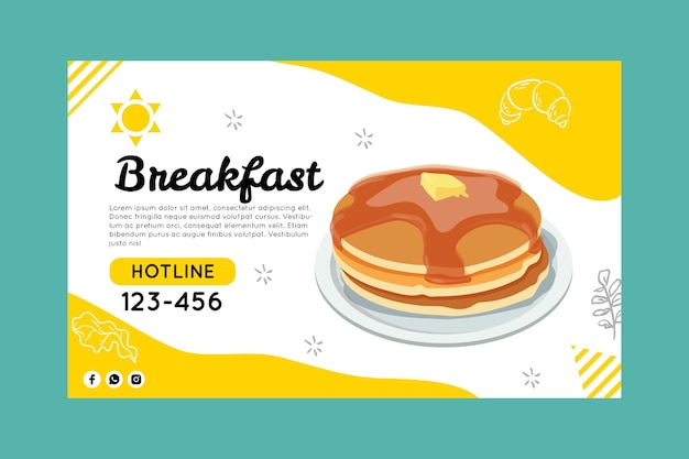 Modèle de bannière de petit déjeuner