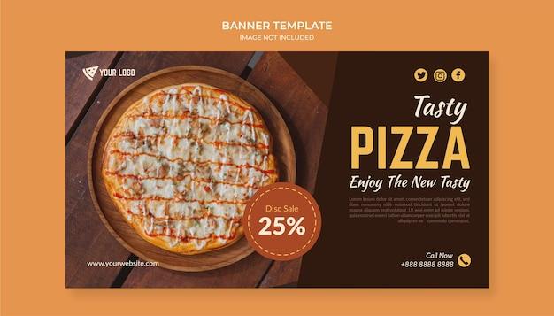 Modèle de bannière de pizza savoureuse