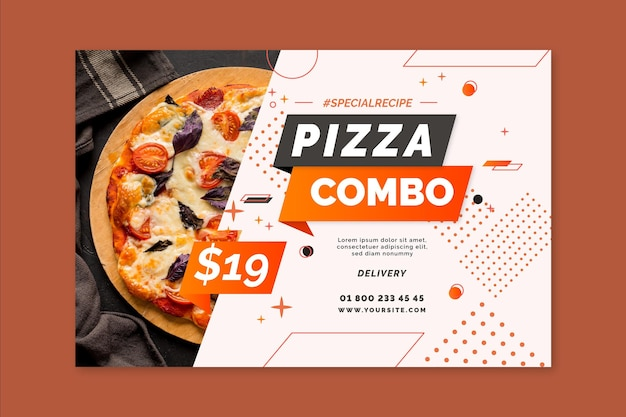 Modèle de bannière de pizza