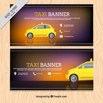 Modèle de bannière pour le service de taxi