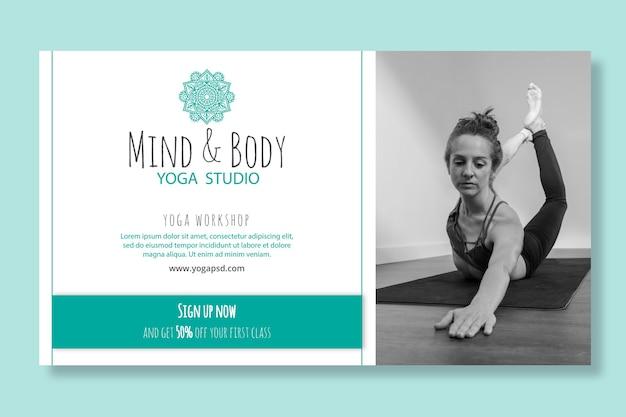 Modèle de bannière de pratique de yoga