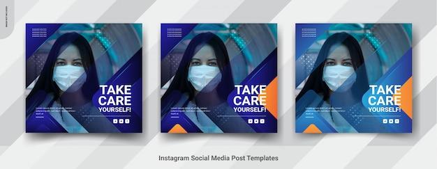 Modèle de bannière de prévention des virus pour les médias sociaux
