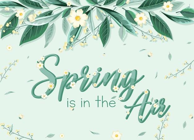Modèle de bannière de printemps floral