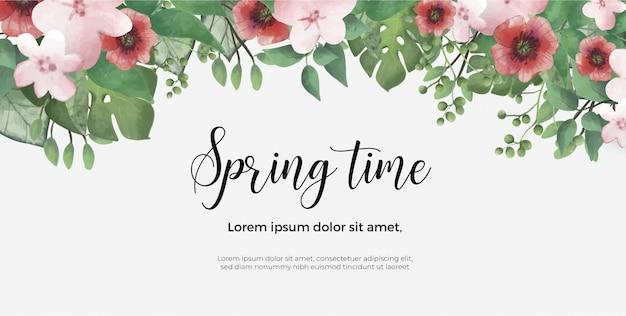 Modèle de bannière de printemps