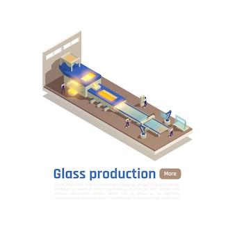 Modèle de bannière de production de verre moderne