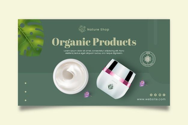 Modèle de bannière de produits biologiques